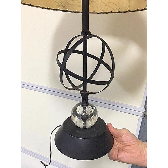 Atomic Mid-Century Lamp With Shade - Image 5 of 9