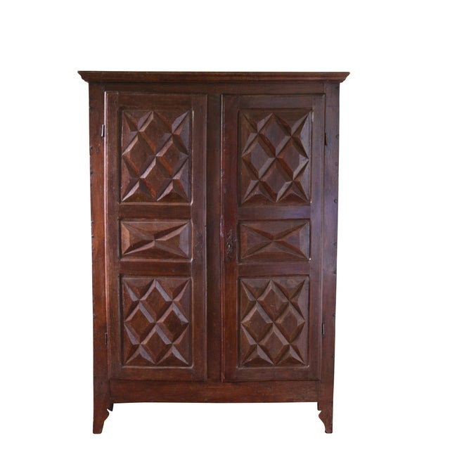 Brown Original Louis XIII-Style Cabinet, France, 19th Century For Sale - Image 8 of 8