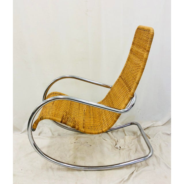 Marcel Breuer Mid Century Modern Thonet Rocking Chair For Sale - Image 4 of 9