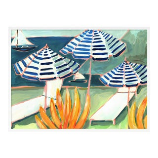 Cabana 5 by Lulu DK in White Framed Paper, Small Art Print For Sale