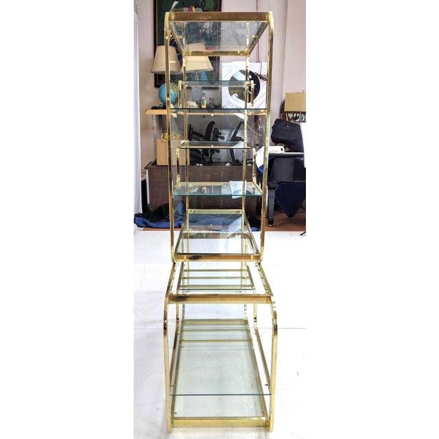 DIA - Design Institute America Milo Baughman for d.i.a Etagere For Sale - Image 4 of 6