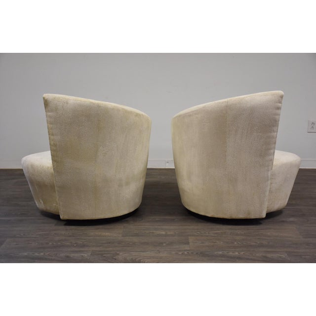 1980s Vladimir Kagan Bilbao Lounge Chairs- a Pair For Sale - Image 5 of 8