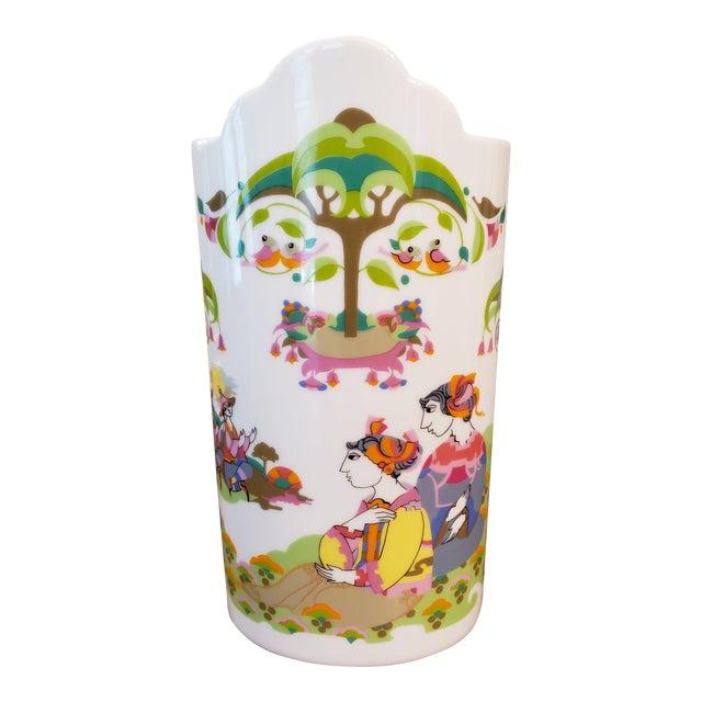 1960s Bjorn Wiinblad for Rosenthal Vase For Sale