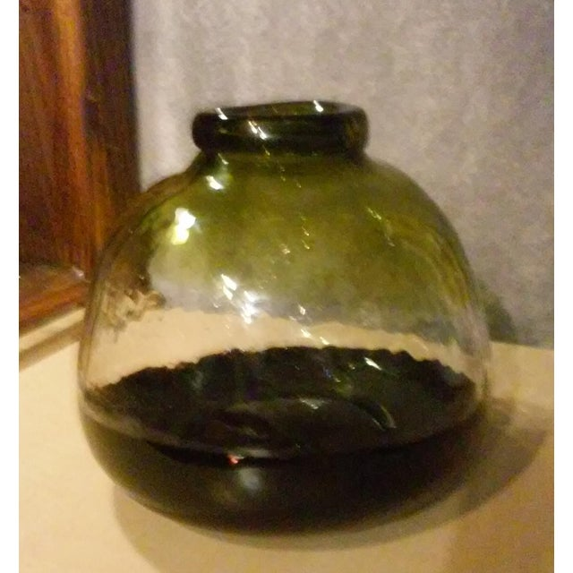 Blown Art Glass Squat Vase - Image 3 of 5