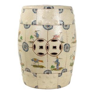 1970s Vintage Ceramic Garden Stool For Sale