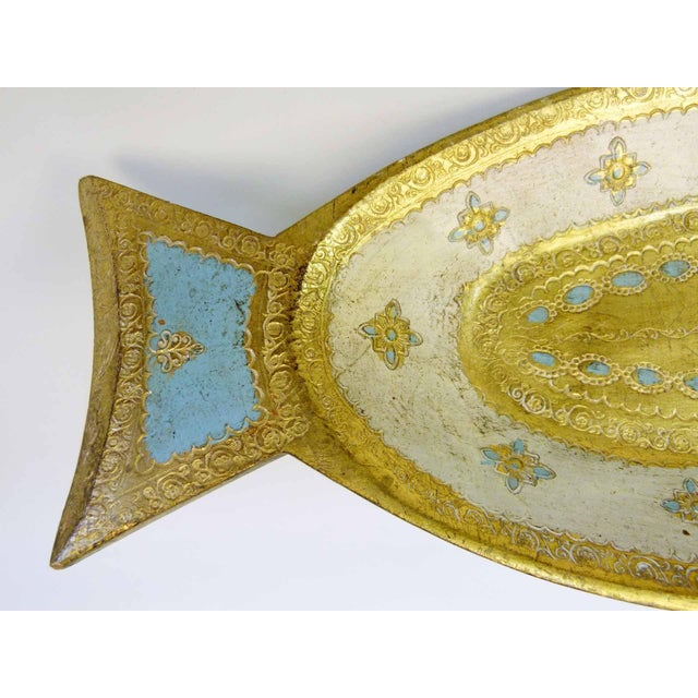 Florentine Gilt Wood Fish Tray - Image 4 of 7