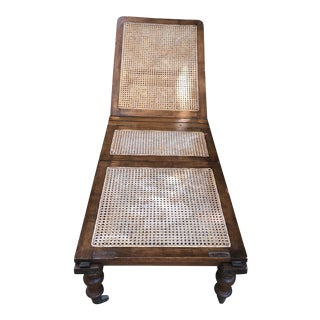 Anglo-Indian Chaise Lounge For Sale