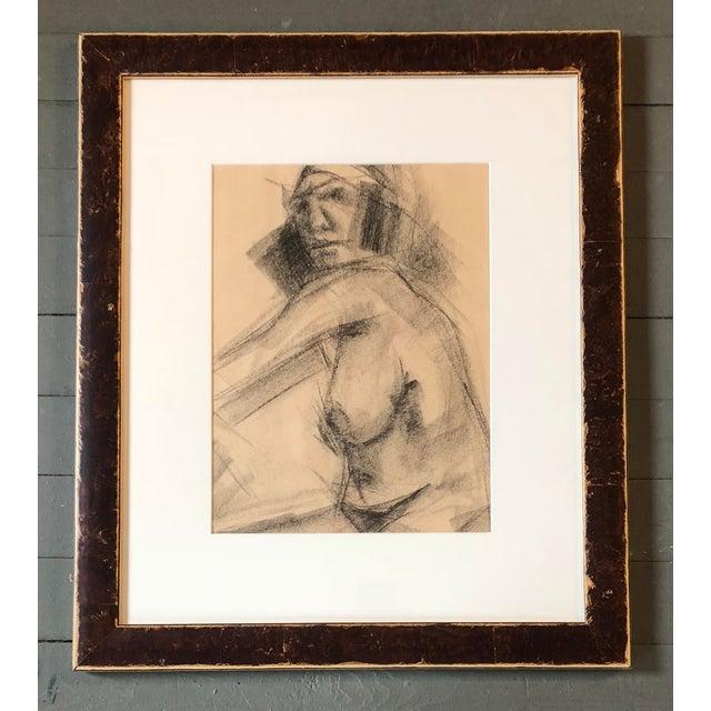 Original Vintage Charcoal Female Nude Study Sketch For Sale In Philadelphia - Image 6 of 6