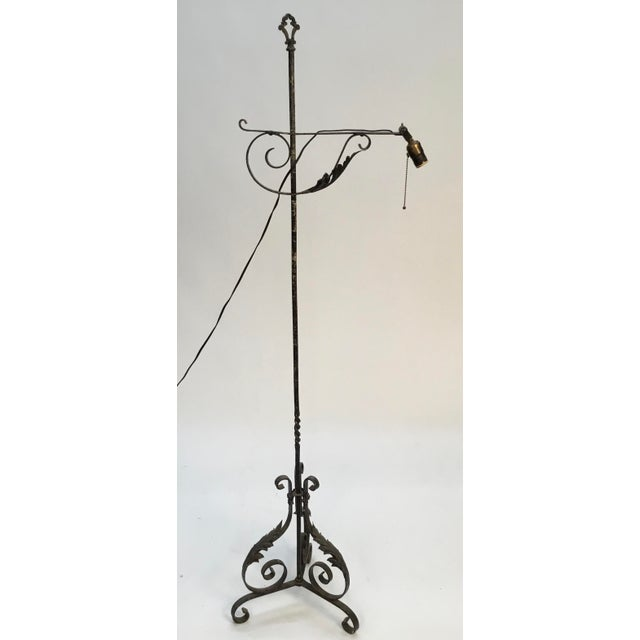 Antique Wrought Iron Floor Lamp For Sale - Image 13 of 13