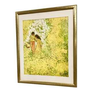 MCM Boho Chic Fab Framed Art Print by M. Storm For Sale