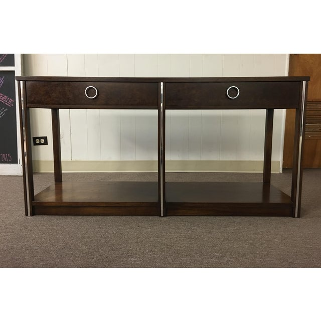 Vintage Wood and Chrome Console/Sofa Table - Image 2 of 10