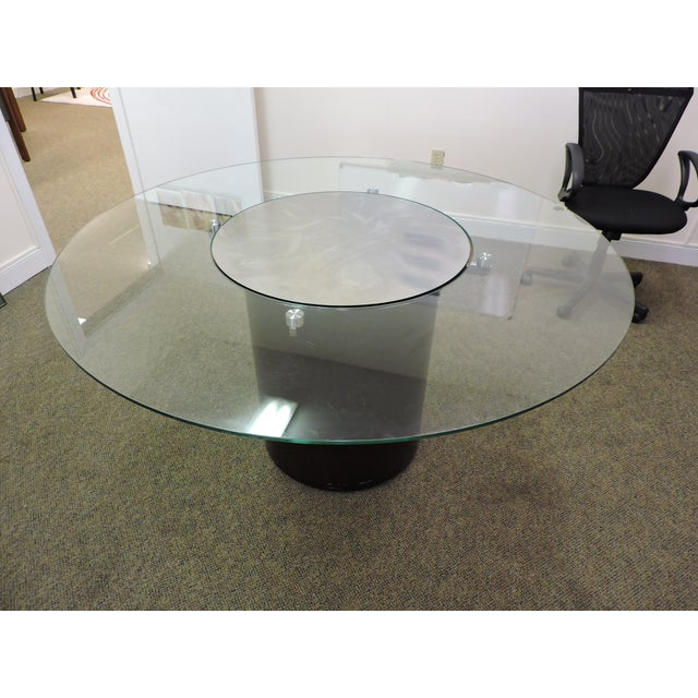 Glass & Wood Dining Table - Image 3 of 3
