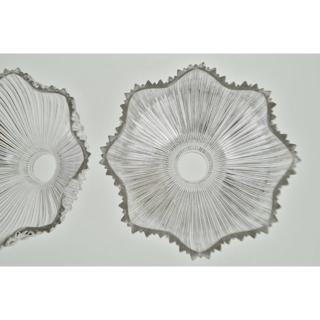 Art Nouveau 1905 Franklin Ribbed Glass Light Shades - a Pair For Sale In Philadelphia - Image 6 of 12