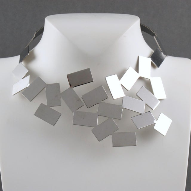 Mario Trimarchi for Alessi Stainless Steel Futurist Collar Necklace For Sale In Atlanta - Image 6 of 10