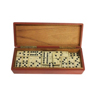 Antique Bone & Ebony Domino Set