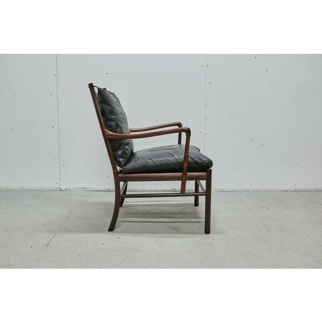 Wood Rosewood Ole Wanscher Colonial Chair, P. Jeppesens Møbelfabrik, Denmark, 1960s For Sale - Image 7 of 13