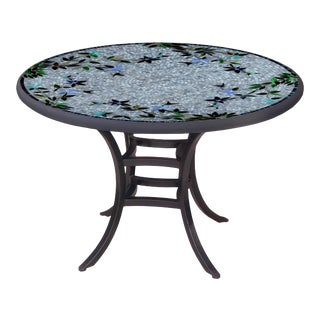 """Royal Hummingbird 60"""" Bistro Table with Black Base For Sale"""