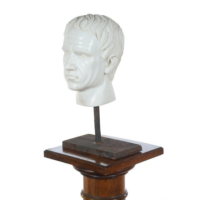 Roman Emperor Marble Bust For Sale - Image 5 of 10