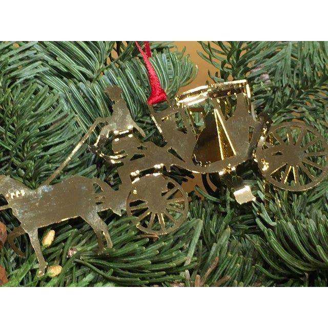 1990s Horse & Carriage Christmas Tree Ornament For Sale - Image 5 of 8