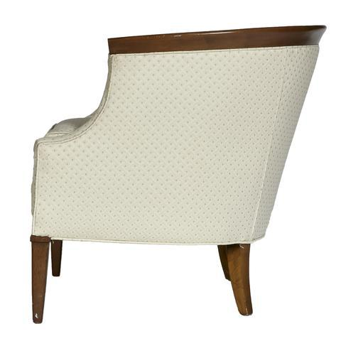 Tomlinson / Erwin - Lambeth Erwin Lambeth for Tomlinson Furniture Walnut Sculpted Lounge Chair For Sale - Image 4 of 7
