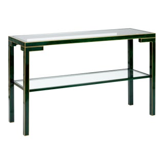 Decker Console in Malachite For Sale