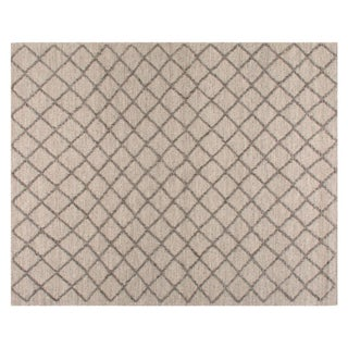 Stark Studio Rugs Contemporary Flatweave Wool Rug - 9′2″ × 12′6″ For Sale