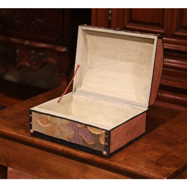 Decorative Bombe Box With 18th Century Needlepoint Tapestry by J. Lamy For Sale - Image 4 of 11