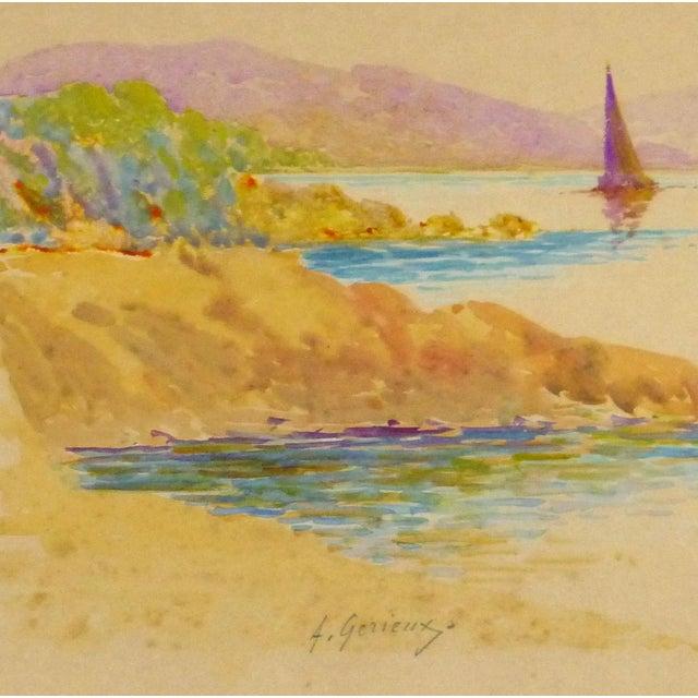Original Rainbow Harbor Painting, C. 1940 - Image 2 of 4