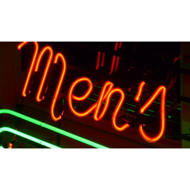 Neon Sign From Department Store, Men's Shoes, Lower Level, Circa 1930s. For Sale - Image 10 of 13