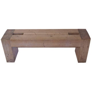 Pair of 1967 French Jean Prouvé With Guy Rey-Millet Wood Benches For Sale