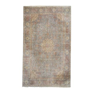Vintage Persian Kirman Rug with Art Nouveau Style in Soft Colors For Sale