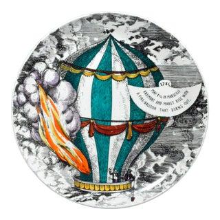 Vintage Piero Fornasetti Porcelain 'Mongolfiere Plate, #7 For Sale