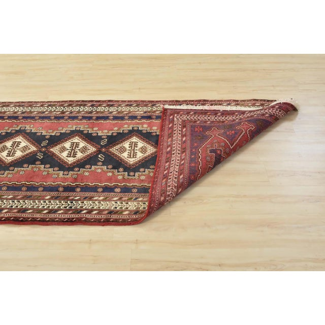 Persian Afshar Runner - 3'5'' X 9'3'' For Sale - Image 11 of 13
