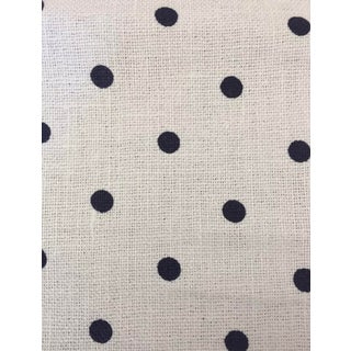 Jeanne Dot CL Cream Blue Linen Print Upholstery Fabric by Ralph Lauren, LCF67354F For Sale
