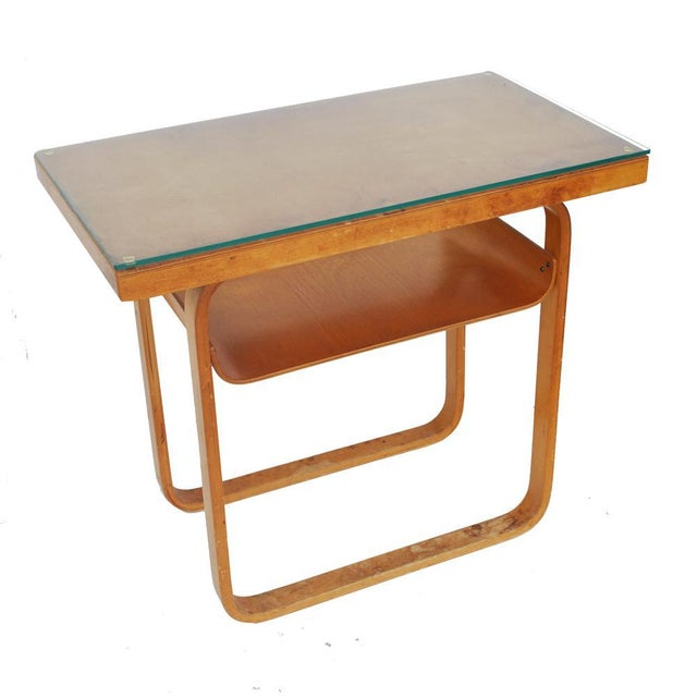 Art Deco Vintage Alvar Aalto 2-Tiered Birch Table For Sale - Image 3 of 8