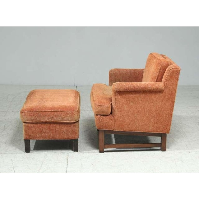 1950s Edward Wormley Lounge Chair with Ottoman For Sale - Image 5 of 9