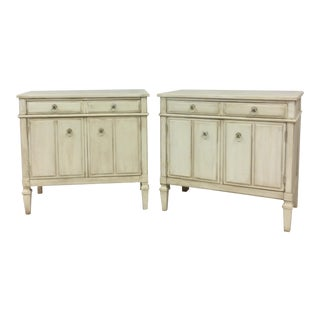 Neoclassical Style Nightstands - a Pair