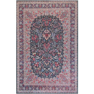 Mansour Kerman Tabriz Wool Rug - 6′9″ × 10′4″ For Sale
