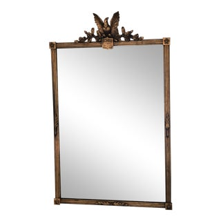 Early 20th Century American Federal Rectangular Giltwood Eagle Wall Mirror For Sale