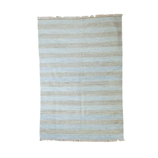 """New Dhurrie Rug - 4' X 5'10"""" For Sale"""