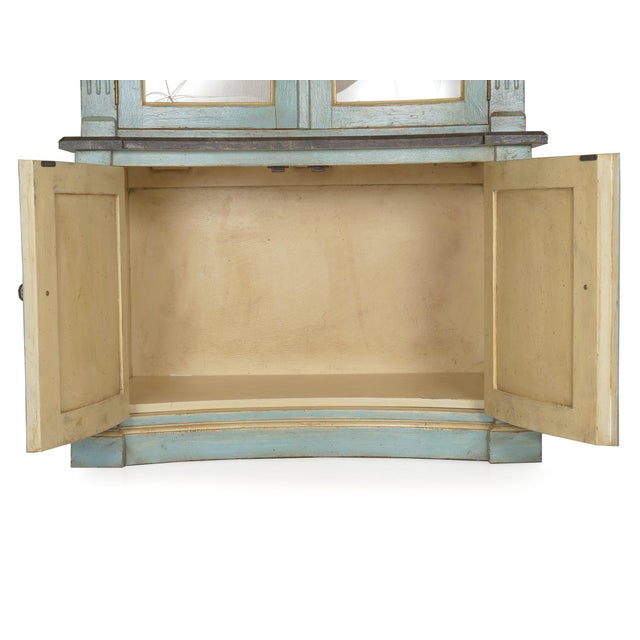 Swedish Gustavian Style Blue Painted Bookshelf Cabinet Bookcase by Lillian August For Sale - Image 10 of 13