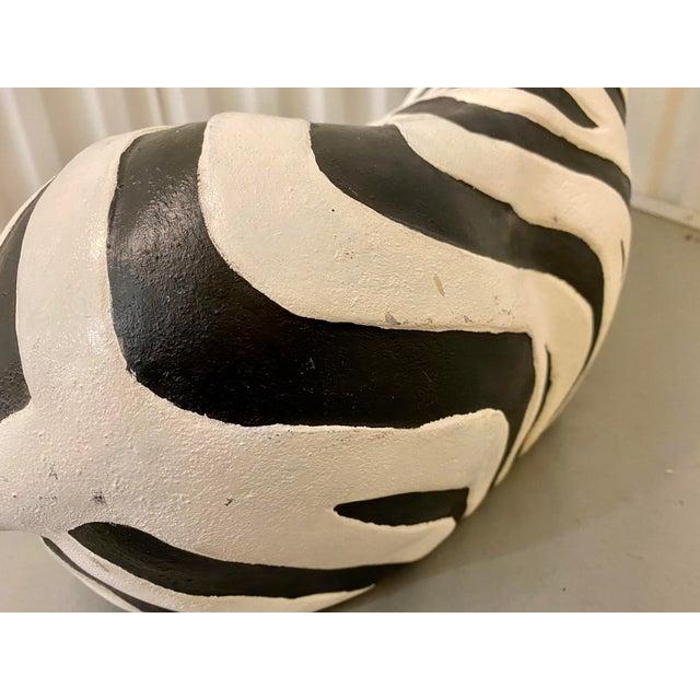 1960s 1960s Black & White Zebra Floor Sculpture For Sale - Image 5 of 9