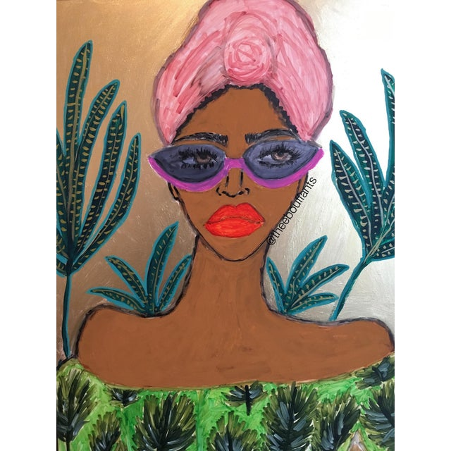 Figurative Tropical Fashionista II For Sale - Image 3 of 3