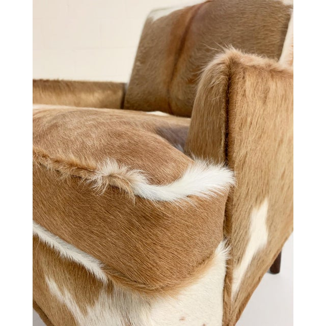Animal Skin Flair Inc. Lounge Chairs Restored in Brazilian Cowhide - Pair For Sale - Image 7 of 10