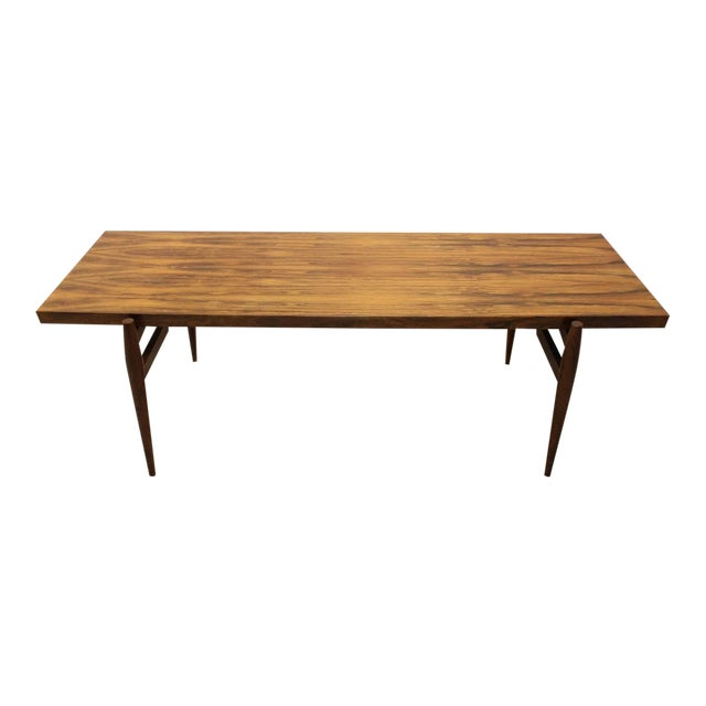 1950s Mid-Century Larsen Style Rosewood Coffee Table For Sale - Image 5 of 5