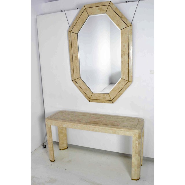 Mid-Century Modern Maitland Smith Tesselated Marble Mirror For Sale - Image 3 of 5