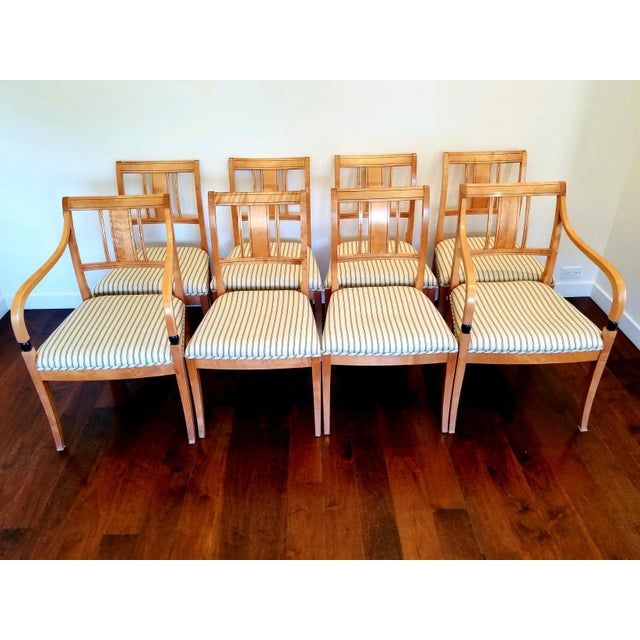 Biedermeier Style Extendable Dining Set For Sale - Image 4 of 10