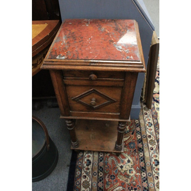 20th Century Art Deco Red Onyx Top Side Table For Sale In New York - Image 6 of 6