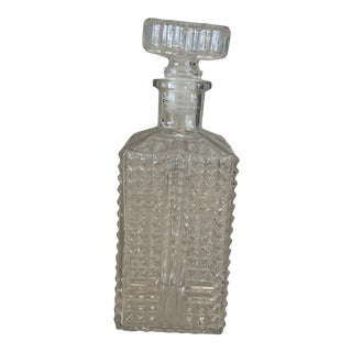1940s Cast Glass Decanter For Sale
