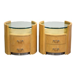 Jay Spectre for Century Furniture Nightstands - a Pair For Sale